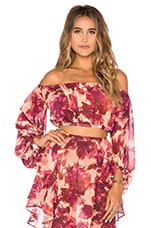 Wild Rose Top en Rosey Floral