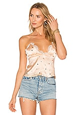 For Love & Lemons Twinkle Lace Cami in Blush