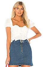 437b0b4f29 For Love   Lemons Monika Overalls Mini Skirt in White Denim