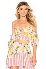 For Love & Lemons Antigua Crop Top in Blush