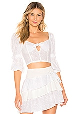 For Love & Lemons Bora Bora Blouse in White