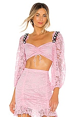 For Love & Lemons Lafayette Crop Top in Pink