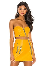 For Love & Lemons Jawbreaker Corset Top in Saffron