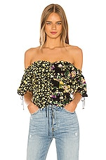 For Love & Lemons Eileen Off The Shoulder Top in October Floral