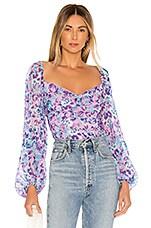 For Love & Lemons Belize Bodysuit in Purple