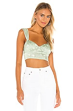 For Love & Lemons Robin Crop Top in Mint Cheetah