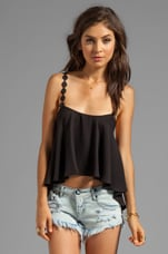 For Love & Lemons Cherry Pop Tank in Black