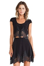 Gilly Girl Crop Top in Black