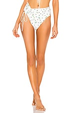 For Love & Lemons Cindy Ruched Bottom in Floral