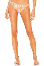 For Love & Lemons Seaside Stripe Bikini Bottom in Cabana