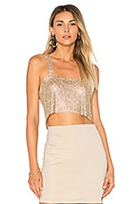 Frasier Sterling After Party Tank in Gold Mesh