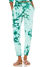 Frankies Bikinis Aiden Sweatpants in Emerald Tie Dye