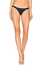 Frankies Bikinis Malibu Bottom in Black