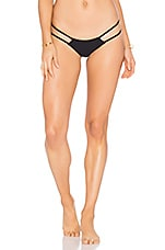 Oceanside Seamless Skimpy Braided Bottom in Black