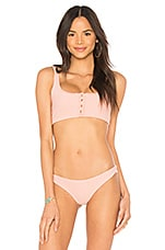 Frankies Bikinis Alana Top in Vintage Rose