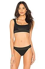 Frankies Bikinis Drew Top in Black