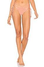 Frankies Bikinis Jessie Bottoms in Peach Crochet
