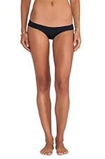 Venice Seamless Booty Short Bikini Bottom in Black