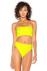 Frankies Bikinis Jenna Top in Lemon Drop Yellow