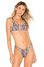 Frankies Bikinis Stormy Top in Snakeprint