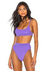 Frankies Bikinis Gabrielle Top in Amethyst