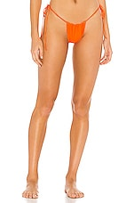 Frankies Bikinis Tia Bottom in Tangerine