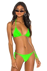 Frankies Bikinis Sky Top in Acid Green