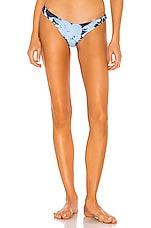 Frankies Bikinis X Sofia Richie Sunny Bottom in Blue Tie Dye