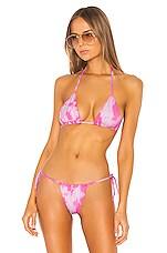 Frankies Bikinis X Sofia Richie Tasha Top in Pink Tie Dye