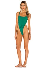 Frankies Bikinis Croft One Piece in Emerald