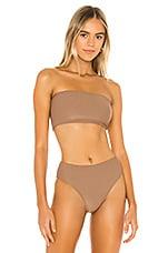 Frankies Bikinis Jenna Top in Brownie