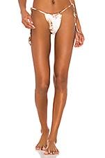 Frankies Bikinis Tasha Bottom in Brownie Tie Dye