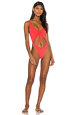 Frankies Bikinis Emma One Piece in Coral
