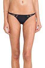 Luna Seamless Braided Side Bottoms in Black