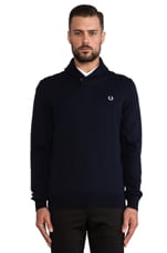 Fred Perry Classic Shawl Neck Cardigan in Navy Marl