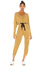 Free People X FP Movement Feelin Good Jumpsuit in Army