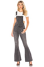 Free People Carly Flare Overall in Black