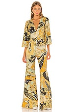 Free People Night Fever Jumpsuit in Gold