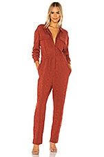 Free People Set The Tone Jumpsuit in Terracotta