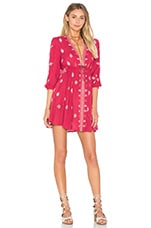 Free People Star Gazzer Dress in Red Combo