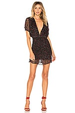 Free People Baby Love Smocked Bodycon in Black Combo