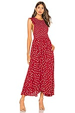 Free People Chambray Butterflies Midi Dress in Red