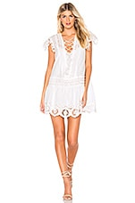 Free People Esperanza Eyelet Mini Dress in Ivory