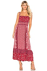 Free People Yessica Maxi in Red Combo