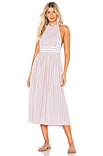 Free People Color Theory Midi Dress in Pink Combo