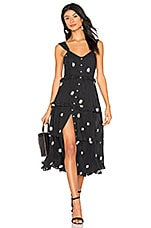 Free People Daisy Chain Midi in Black Combo