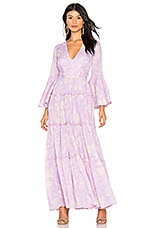 Free People Carmen Tie Back Maxi in Purple Combo