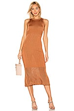 Free People Come My Way Midi Dress in Orange