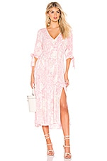 Free People Forever Always Midi Dress in Pink Combo