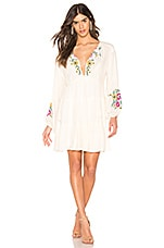 Free People Spell On You Mini Dress in Neutral